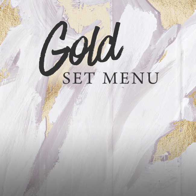 Gold set menu at The Nag's Head