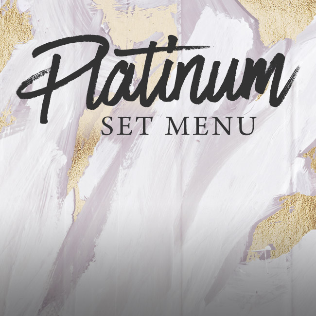 Platinum set menu at The Nag's Head