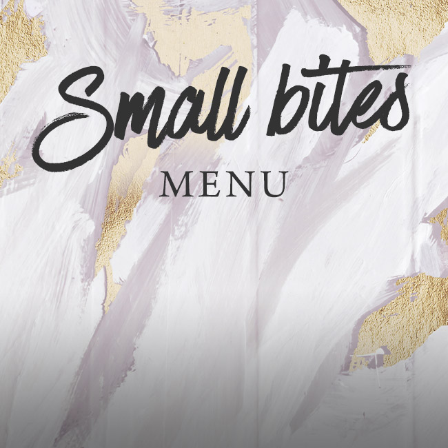 Small Bites menu at The Nag's Head