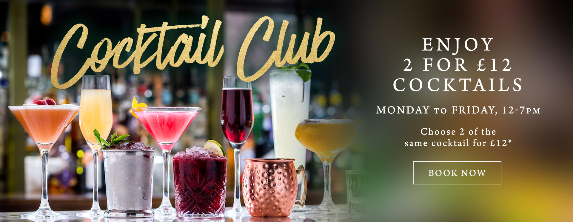 2 for £12 cocktails at The Nag's Head